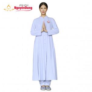 Áo tràng tròn Pháp phục Nguyên Dung cho Nữ, silk len 36E-8703