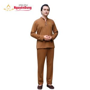 Bộ Dài Pháp Phục Nguyên Dung cho Nam, bộ tay dài, Thun Compact BDTD 183 1438