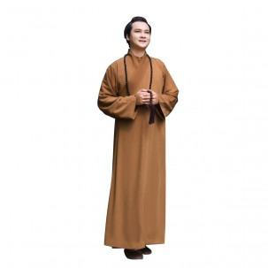 Áo tràng Pháp phục Nguyên Dung cho Nam, thiết kế truyền thống, Silk lụa cao cấp ATTT 38E 0005