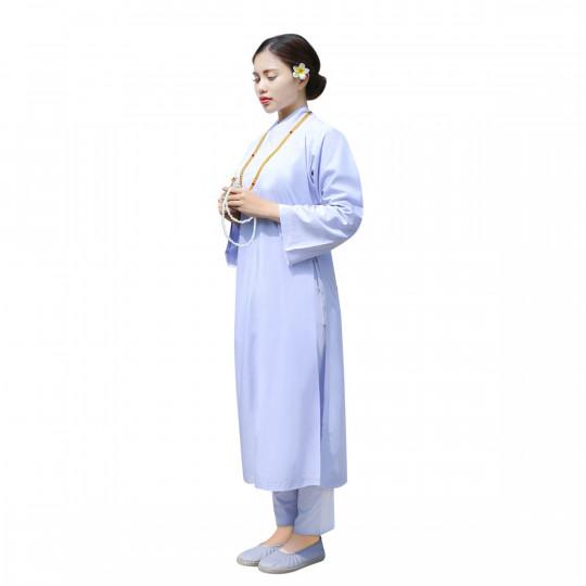 Áo tràng Pháp phục Nguyên Dung cho Nữ, thiết kế truyền thống, Kate cao cấp ATTT 39E 8707